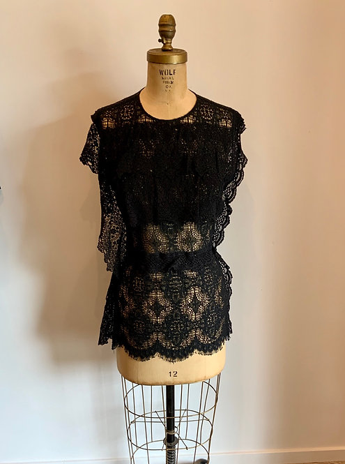Gary Graham Lace Blouse