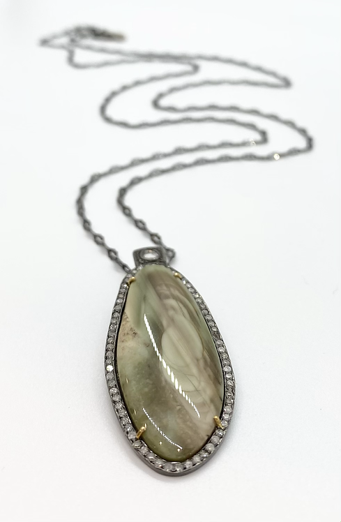 Robindira Unsworth Imperial Jasper Pendant Necklace