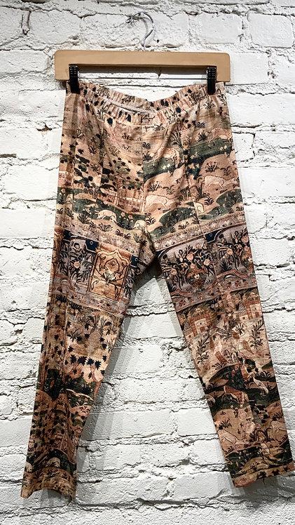 Gary Graham Antique Tapestry Print Leggings