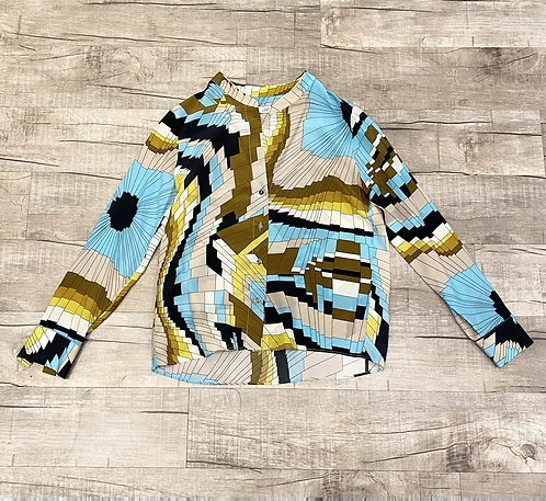 0039 Italy Silk Print Blouse
