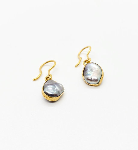 Lou Zeldis Baroque Sea Pearl Earrings