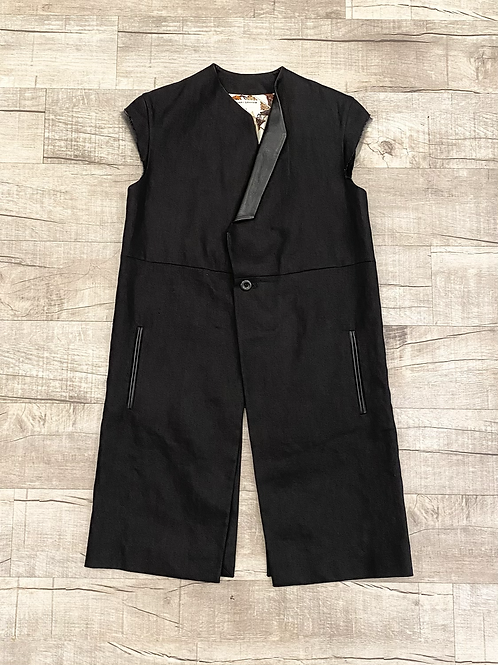 Gary Graham Leather Detail Vest