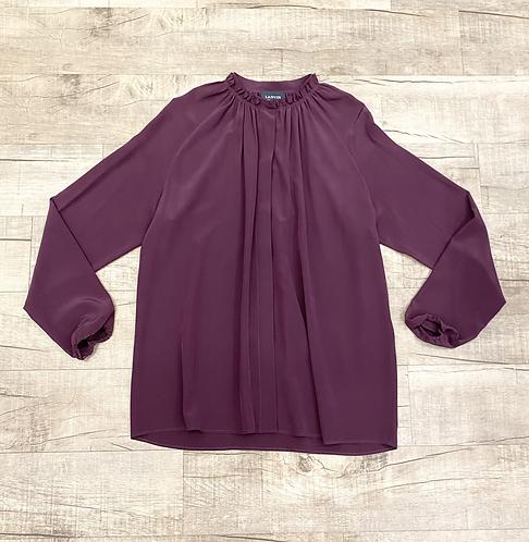 Lanvin Silk Button Up Blouse