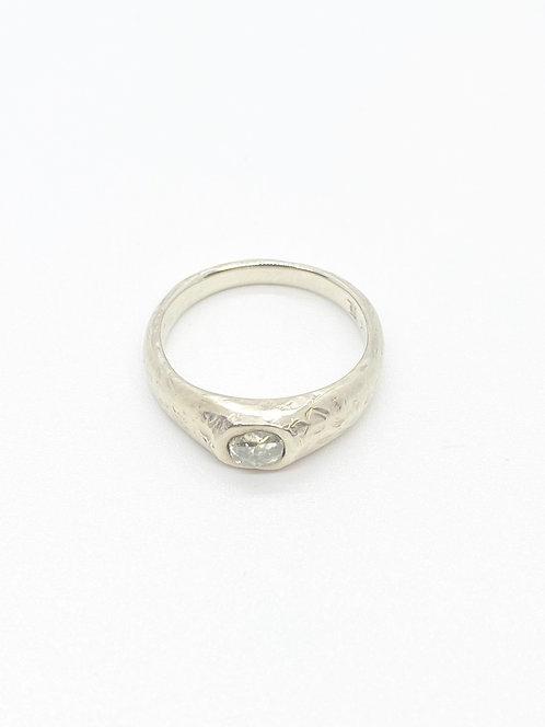 April Higashi Old Mine Cut Diamond Ring