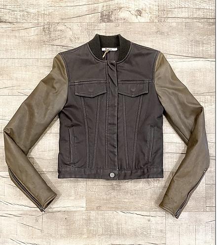 Alexander Wang Leather Bomber Jacket