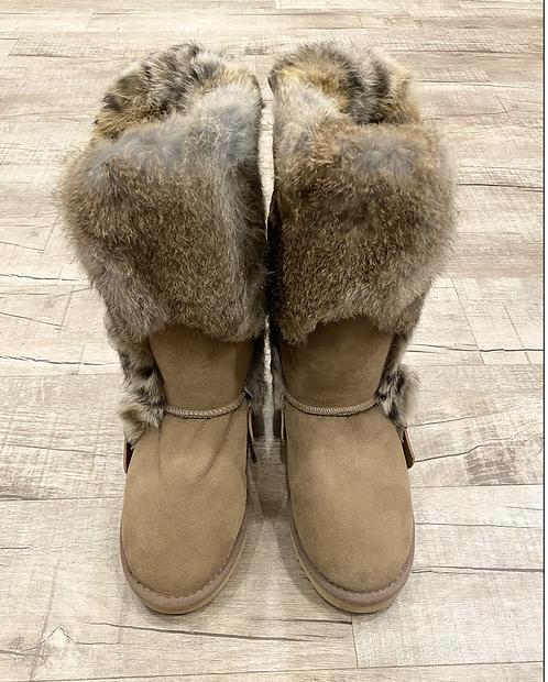 Mou Rabbit Fur Boot