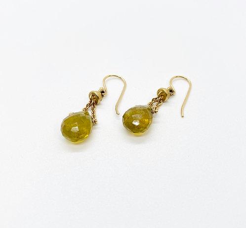 Kara Varian Baker Olive Oil Quartz Earrings