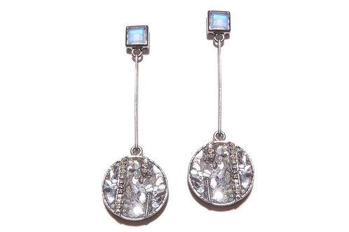 Shana Gulati Moonstone Sliced Diamond Earrings