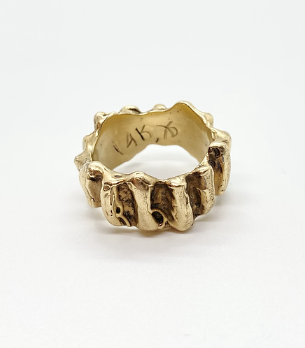 Chunky Ridged Signed Ring