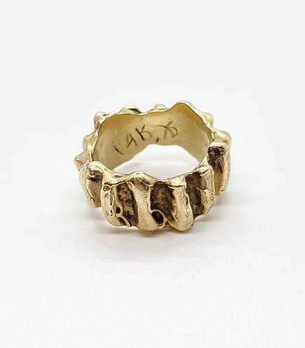Chunky Ridged Signed Ring