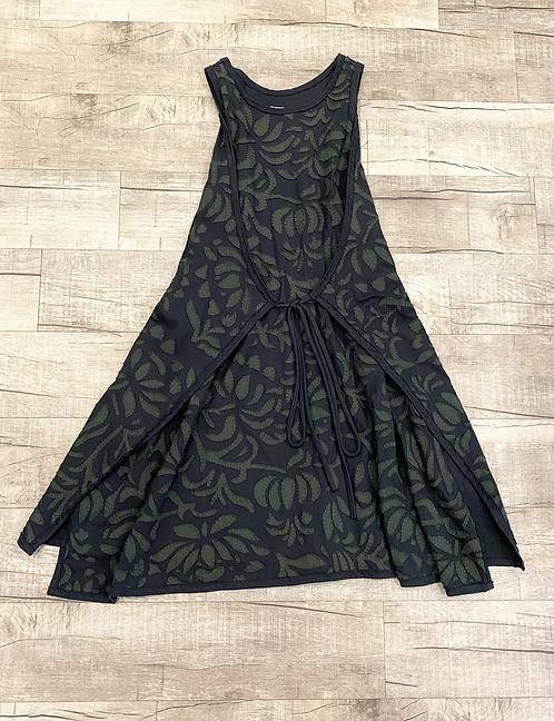 Alabama Chanin Appliqué Tie Front Dress