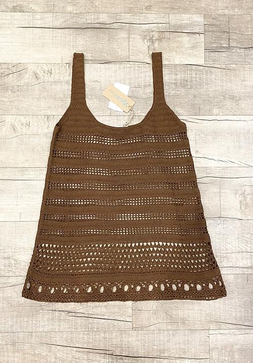 Erica Tanov Crochet Cotton Tank