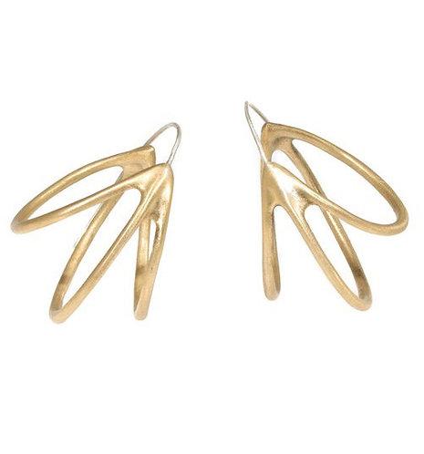 Claudia Alleyne Medium Pinasse Hoop Earrings