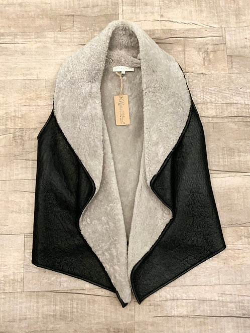 Nellie Partow Shearling Leather Vest