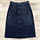 Thumbnail: Theory Suede Button Front Skirt