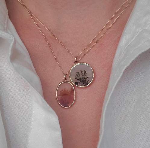 Acanthus Dendritic Agate Necklace