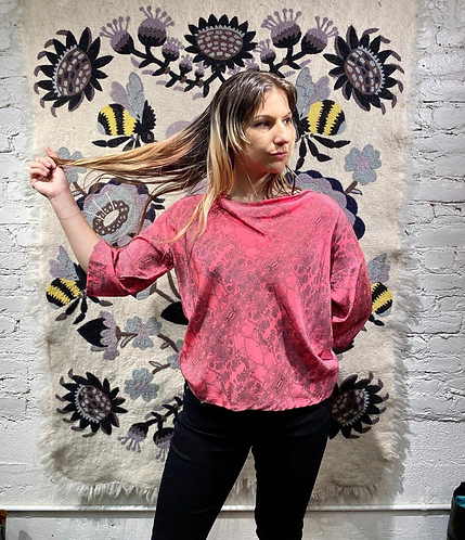 Erica Tanov Print Silk Blouse