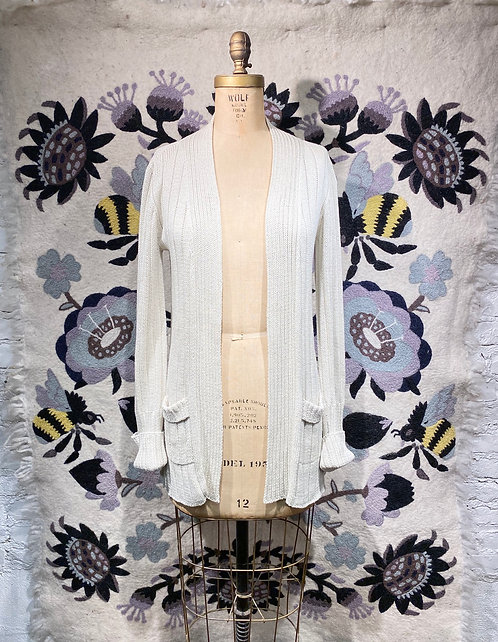 Erica Tanov Cotton Knit Cardigan