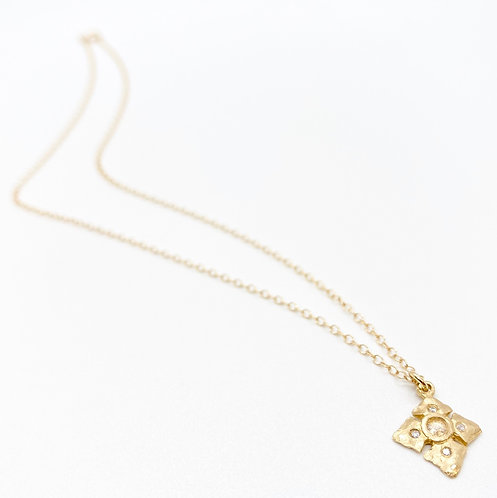 Victoria Cunningham Hammered Cross Necklace