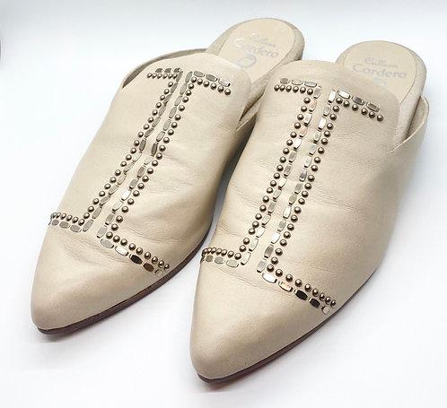 Calleen Cordero Leather Studded Flats