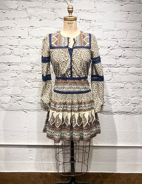 Sea Print Cotton Dress
