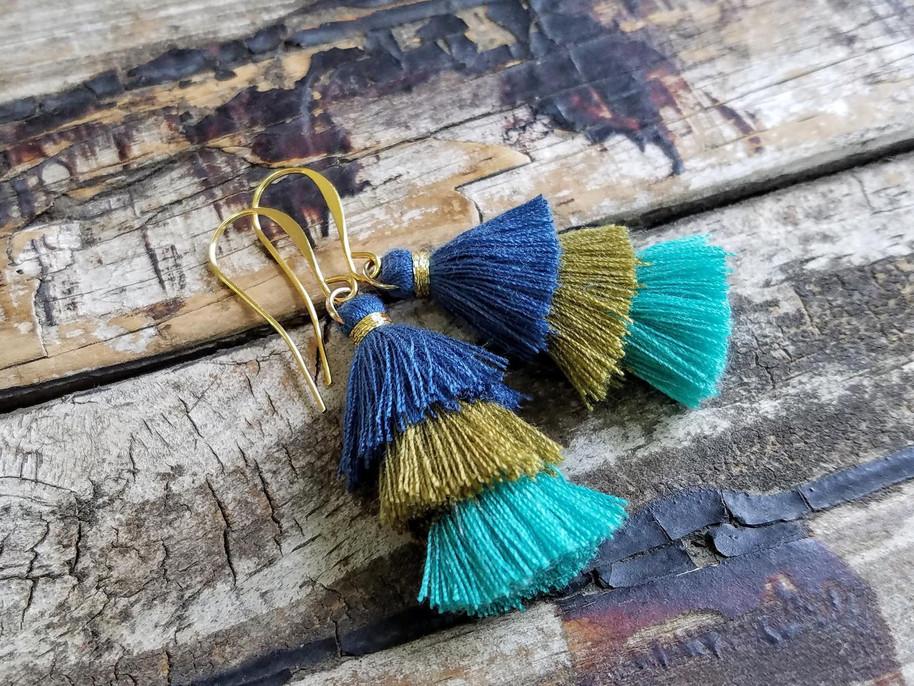ombre earrings