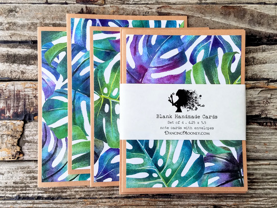 monstera note cards