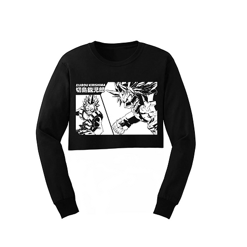 RED RIOT CROP LONG SLEEVE
