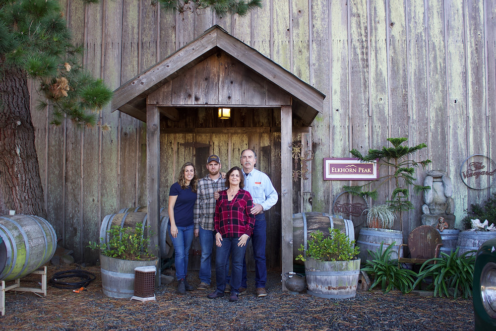The Nerlove family, at the Elkhorn Peak ranch.