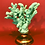 Thumbnail: Turquoise coral objet d'art and candle holder