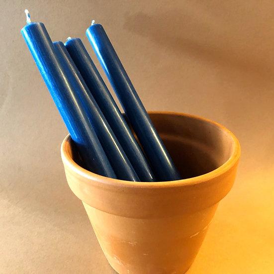 St Eval Bedruthan blue dinner candles