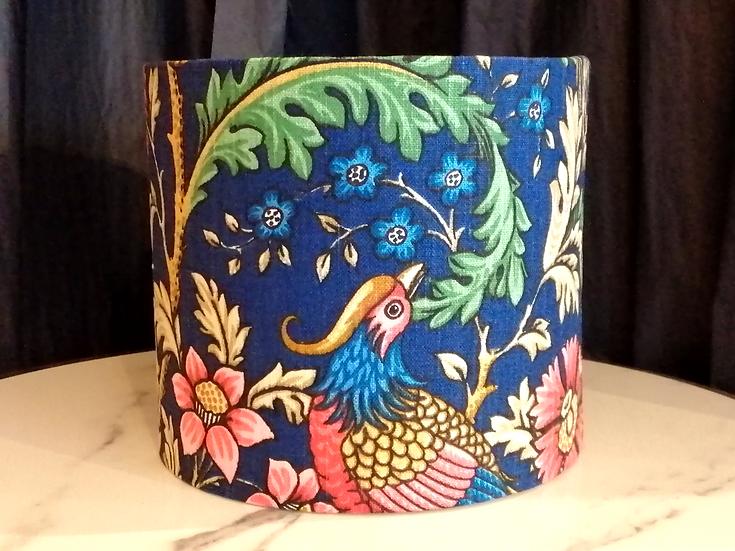 Small blue Morris bird lampshade