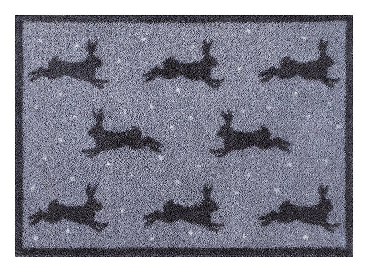 Medium Hares grey Turtle mat door mat
