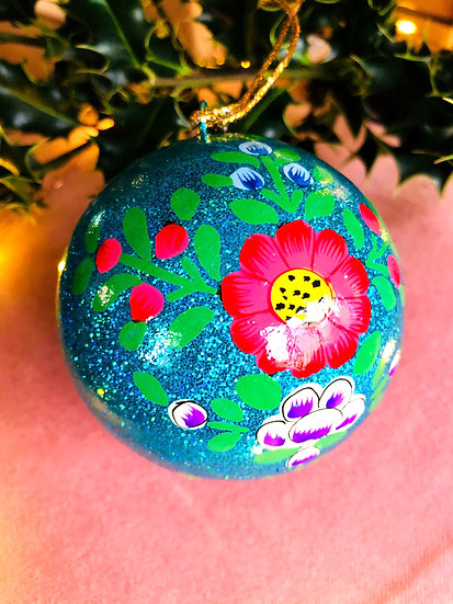 Large hand painted bauble