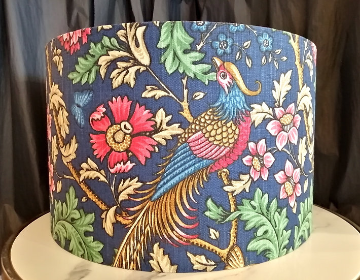 Medium blueMorris bird lampshade