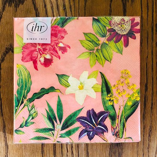 Napkins pink tropical flower