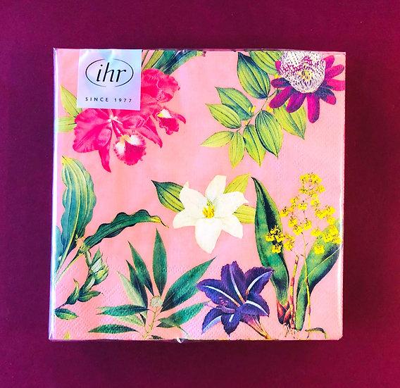 Napkin pink floral