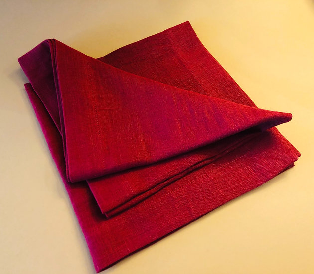 Rich red Linen napkin