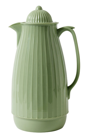 Mint green thermos flask.