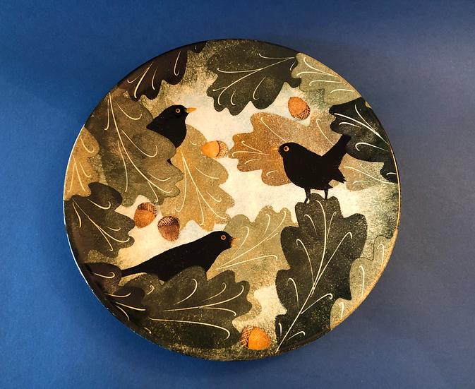 Ralph Jandrell Medium couple blackbird plate