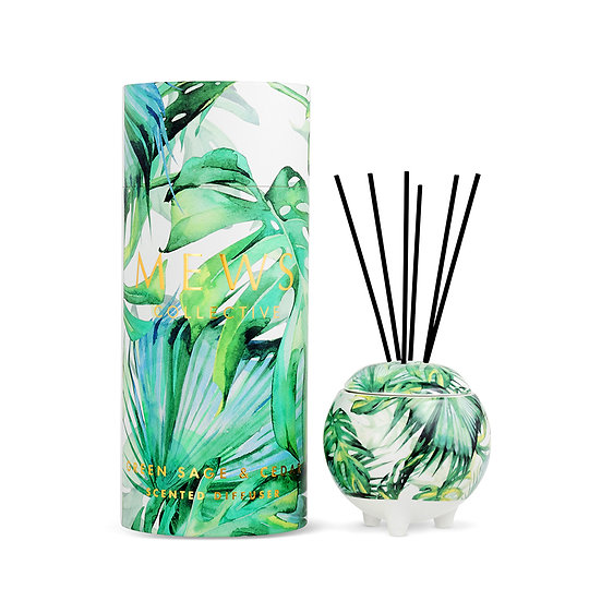 Mews collective green sage and cedar mini diffuser