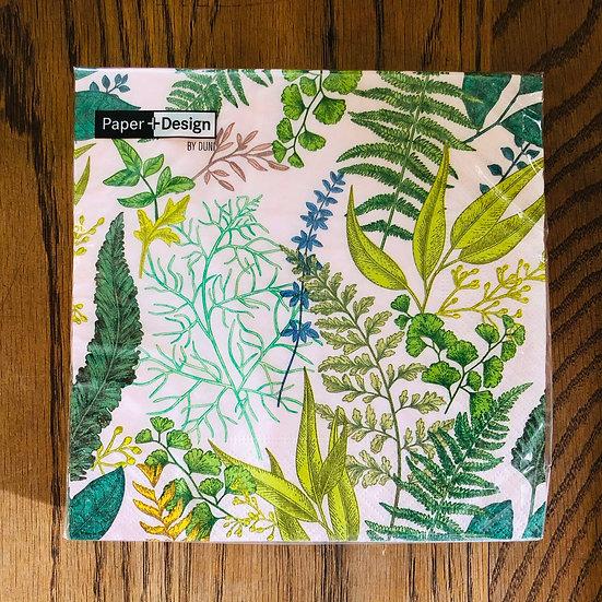 Napkin green fern