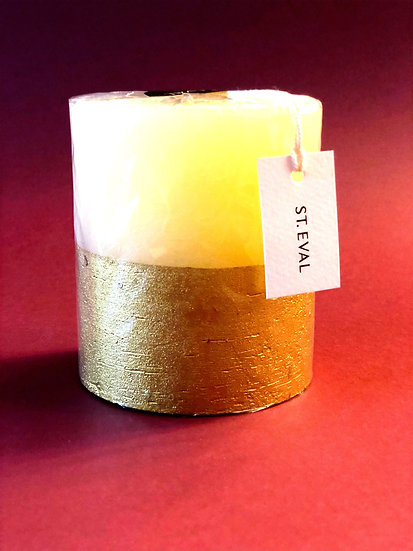 St Eval Inspiritus scented gold dipped candle