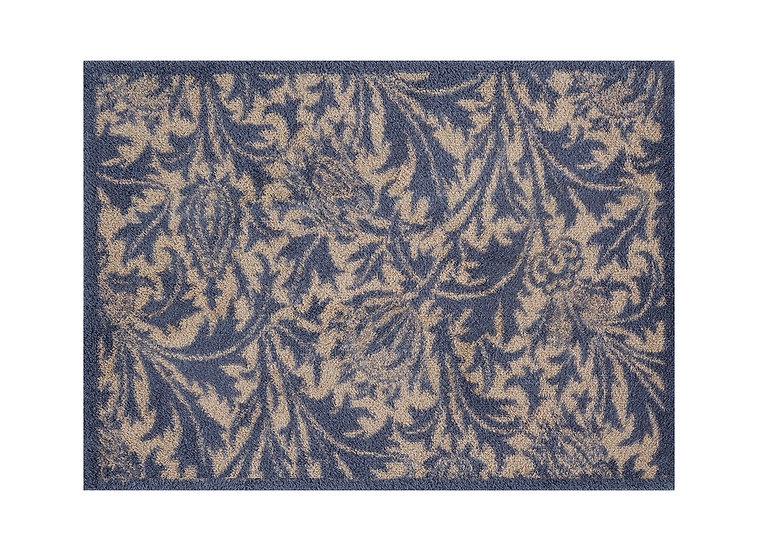William Morris thistle blue Turtle door mat