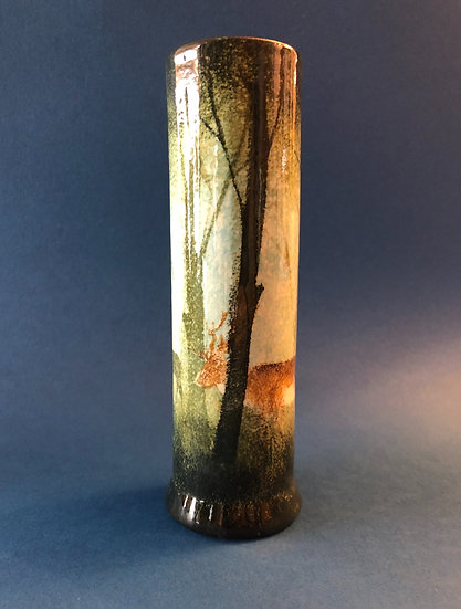 Ralph Jandrell medium Deer Cylinder vase