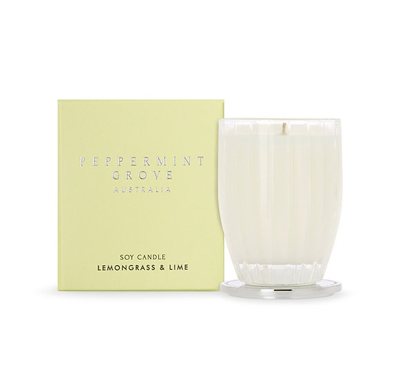 Peppermint grove lemongrass and lime soy candle
