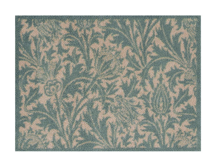 Medium WilliamMorris thistle green Turtle mat door mat