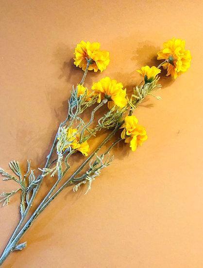 Faux yellow meadow flower
