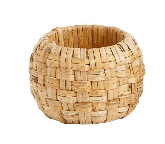 Woven cane napkin ring