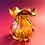 Thumbnail: Amber glass Bag vase
